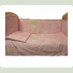 Защита на кровать Ассоль Мишки на месяце Кремовый