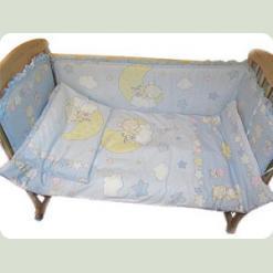Защита на кровать Ассоль Мишки на месяце Розовый