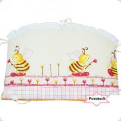 Защита на кровать Ассоль Пчелы большие Розовый
