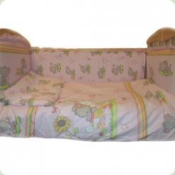 Защита на кровать Ассоль Слоник Розовый