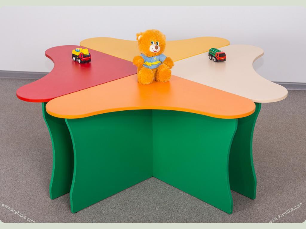 Детские столики лепесток 1460*1460*520 - купить по низкой це.