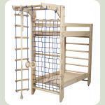 Двухъярусная кровать-спортуголок