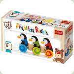 Деревянный паровозик Trefl Пингвины-наездники (60922)