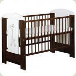 Детская кроватка Klups Safari Zyrafka Орех
