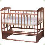 Детская кроватка Наталка Маятник Тонированная с регулируемой боковиной