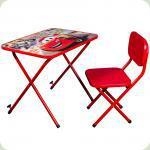 Детская парта со стульчиком Ommi Тачки Красная