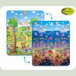 "Детский двусторонний коврик ""Сафари-пикник и Мир океана"", 150х180 см"