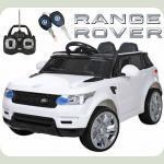 """Детский Джип Land Rover """"Кожаное сиденье """" белый M 3402"""