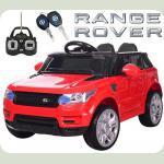 """Детский Джип Land Rover """"Кожаное сиденье """"  красный M 3402"""