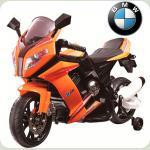 Детский электромотоцикл BMWс приставными колёсами