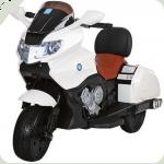 """Детский Мотоцикл YAMAHA """" Кожаное сиденье"""" M 3277 белый"""