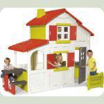 Дом двухэтажный с кухней-барбекю, звонком, 250x157x209 см, 3+