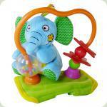 Игрушка на коляску Biba Toys Крутящийся слоненок (499BR)