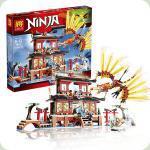 Конструктор Lele Ninja Огненный Храм (79140)