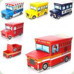 Корзина для игрушек Bambi M 2968 Автобус с мороженым