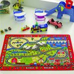 Ковер в детскую комнату Confetti - Railway красный 100*150