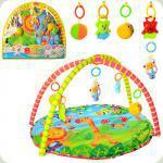 Коврик для младенца 518-17, 80-64см, дуга 2шт, подвески 5шт(3шт-погремушки), в сумке, 6-54-5см