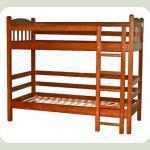 Кроватка двухъярусная (орех)