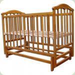 Кроватка Laska-M Чайка маятник, с мех. опускания без ящика (нат. ольха)