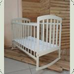 Кроватка Laska-M Лама (белая)