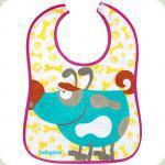 Махровый водонепроницаемый нагрудник BabyOno Большой Песик (876)