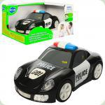 Машинка 6106A полиция, 16,5см,ездит, звук,свет,рез.колеса,на бат-кев кор-ке,19,5-15,5-11см