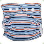 Мультиразмерный многоразовый подгузник голубой/оранж/синий