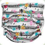 Мультиразмерный многоразовый подгузник Music Birds