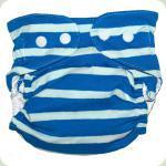 Мультиразмерный многоразовый подгузник синий/голубой