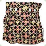 Мультиразмерный многоразовый подгузник Витраж желтый