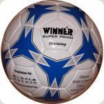 Мяч футбольный WINNER Super Primo № 4 бело-синий
