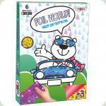 Набор для творчества Strateg Картинка из фольги Мишка-водитель (700-12)