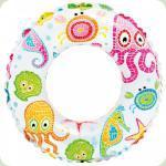 Надувной круг Intex Цветной Морские жители (59241)
