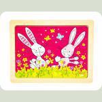 Пазл goki деревянный Кролики Susibelle 57506-5