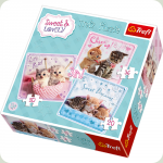 Пазл Trefl 3 в 1 Милые котята (34809)