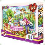 Пазлы Leo Lux Лиса и Журавль 120 элементов (353)