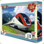 Пазлы Leo Lux Поезд-экспресс 120 элементов (350)