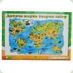 Плакат Світогляд Дитяча карта світу, укр. (12104101У)