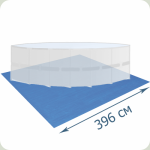 Покрытие Bestway 58002 под бассейны  3.60 - 3.66 м 396х396 см