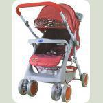 Прогулочная коляска Bambini Mars с чехлом Red Strawberry
