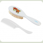 Щëтка и расчëска для волос BabyOno Мягкая Белый (567)