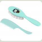 Щëтка и расчëска для волос BabyOno Мягкая Голубой (569)