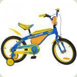 """Велосипед Profi Trike 16BX405UK 16"""" UKR Желто-голубой"""
