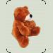 Медведь сидячий «Бублик» №3, 110 см