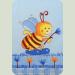 Постельный комплект Ассоль Эконом (8 пр.) Пчелы Голубой