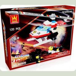 """040809 Конструктор """"Вертоліт рятувальників"""" (120 деталей)"""