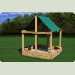 Дерев'яна пісочниця для дітей - краще місце для різноманітних ігор