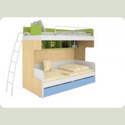 Дитяче двоярусне ліжко Сонячне місто-3
