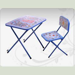 """Дитяча парта зі стільцем """"Оптима"""", синього кольору"""
