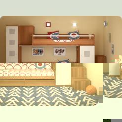 Повний комплект дитячої спальні NEXT-1